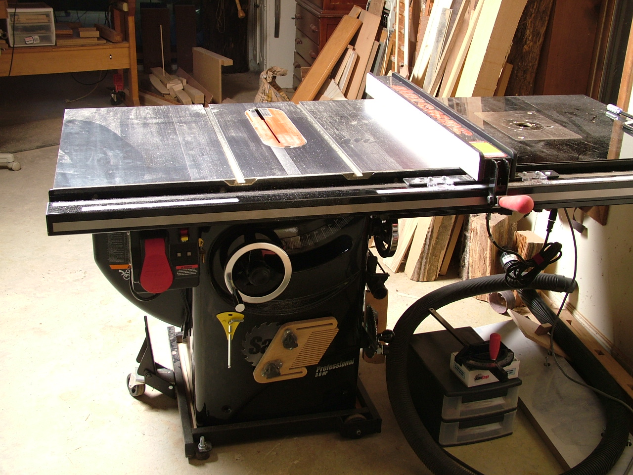 Shop upgrade sawstop table saw i dropped a bench dog router greentooth Gallery