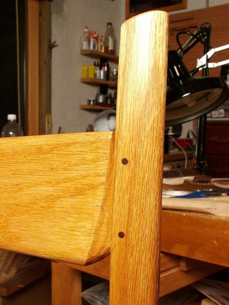 Crest Rail Pinned with Walnut Peg