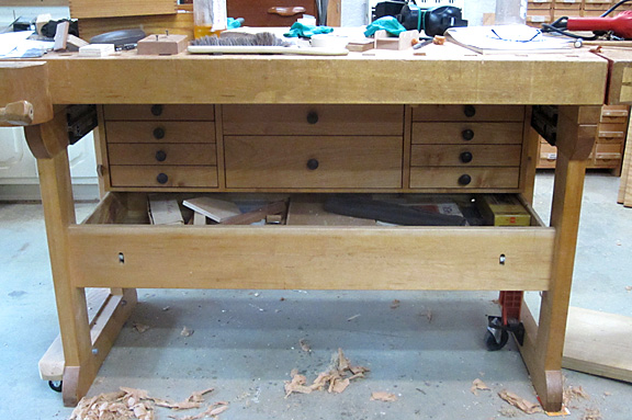Bench drawers
