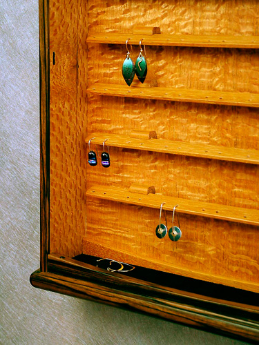 Earring Cabinet Inside View