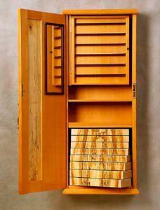 David Finck: Woodworker | Wall-hung Jewelry Cabinet Lantern